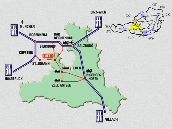 Anfahrt über Salzburg Nach Lofer Mit Auto Bahn Oder Flugzeug